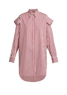 Alexander McQueen Oversized striped cotton shirt
