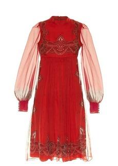 Alexander McQueen Paisley-print babydoll dress