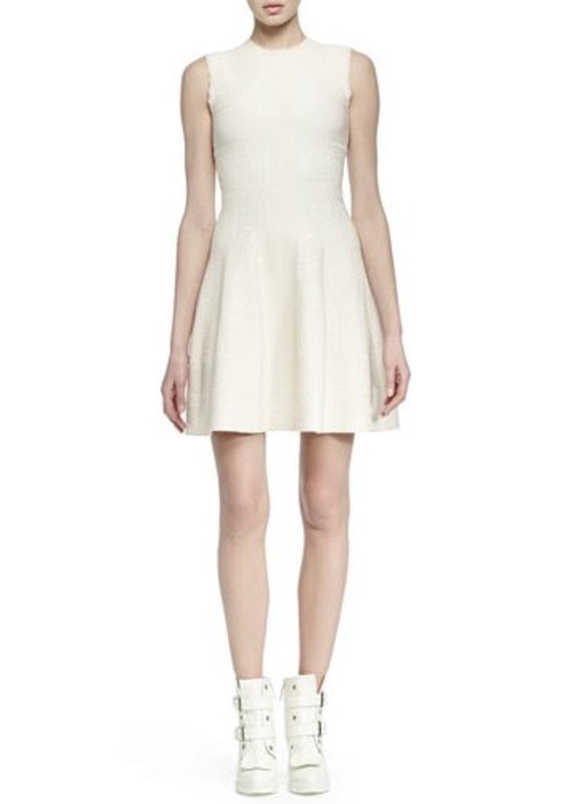 Alexander McQueen Paneled Jacquard A-line Dress