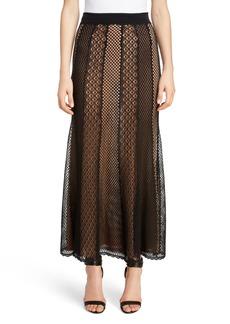 Alexander McQueen Paneled Lace Skirt