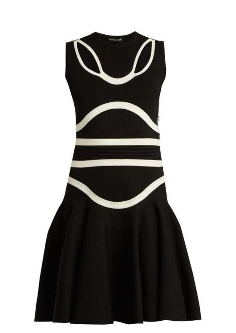 Alexander McQueen Panelled knitted midi dress