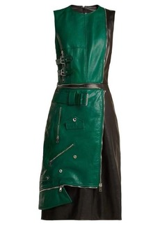 Alexander McQueen Panelled leather dress