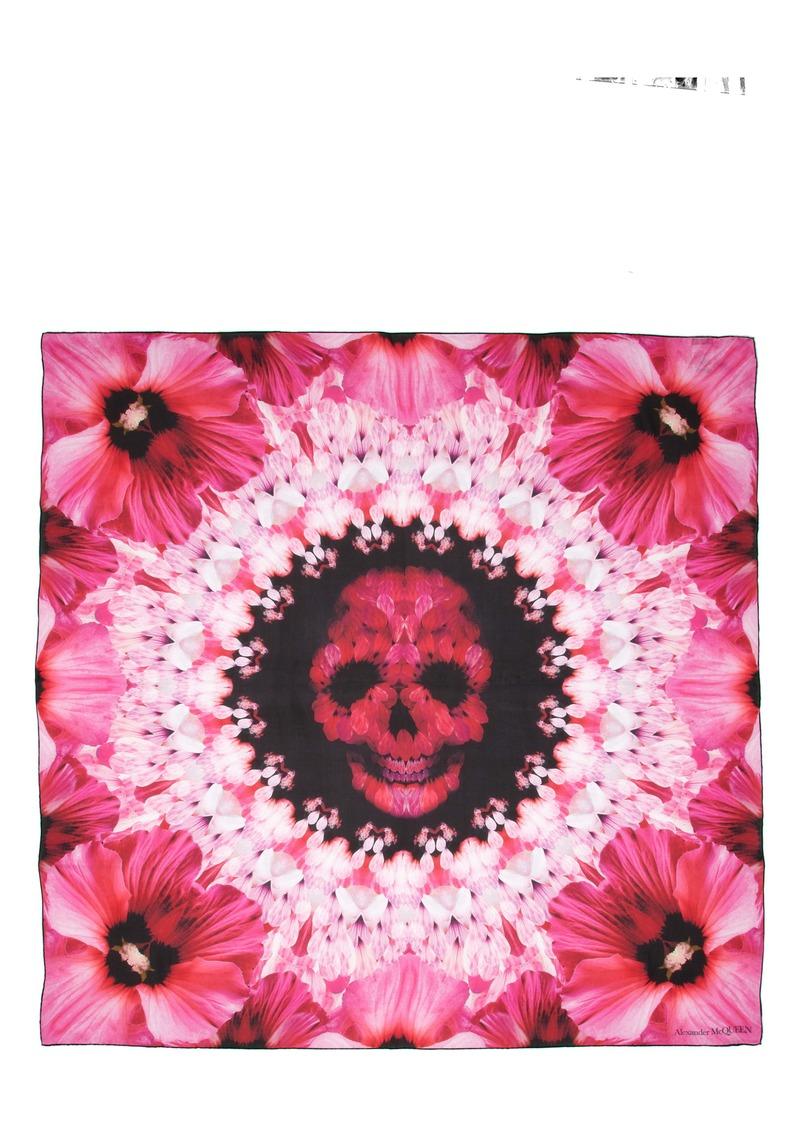 Alexander McQueen Paradise Skull Silk Scarf