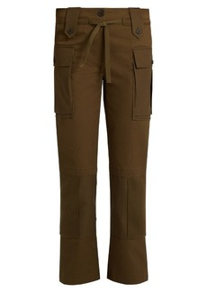 Alexander McQueen Patch-pocket straight-leg cotton-twill trousers
