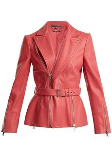 Alexander McQueen Peak-lapel leather biker jacket