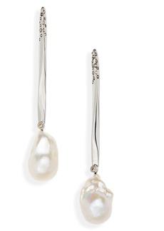 Alexander McQueen Pearl Linear Drop Earrings