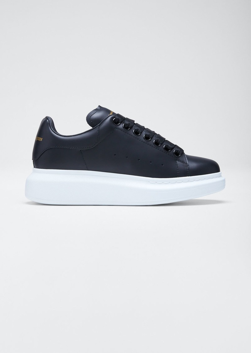 Alexander McQueen Pelle Lace-Up Sneakers