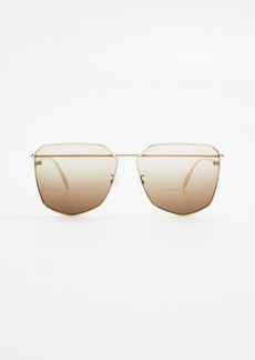 Alexander McQueen Piercing Hexagon Sunglasses