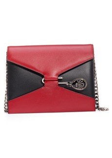 Alexander McQueen Pin Calfskin Leather Shoulder Bag