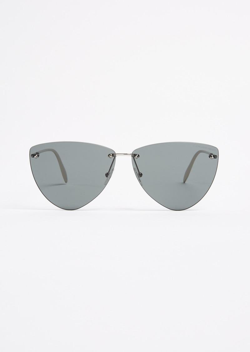 dc9b19332df5 Alexander McQueen Alexander McQueen Pinched Shield Sunglasses ...