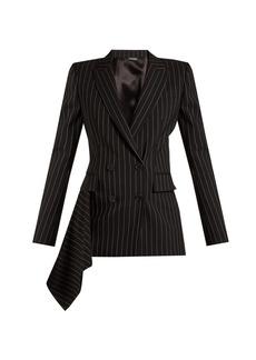 Alexander McQueen Draped pinstripe-wool jacket