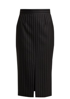 Alexander McQueen Pinstripe wool-blend twill pencil skirt