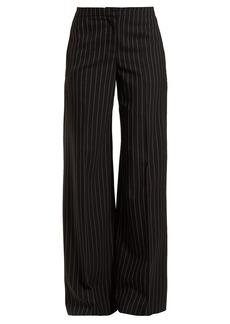 Alexander McQueen Pinstripe wool-blend trousers