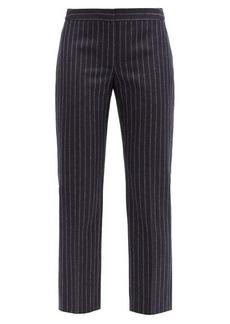Alexander McQueen Pinstriped straight-leg wool trousers