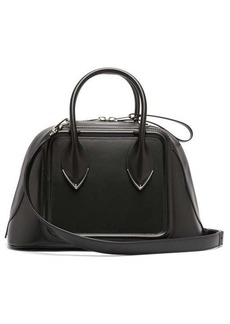 Alexander McQueen Pinter panelled leather bowling bag