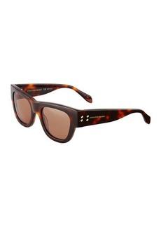 Alexander McQueen Plastic Printed Sunglasses