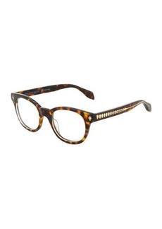 Alexander McQueen Plastic Round Havana Optical Glasses