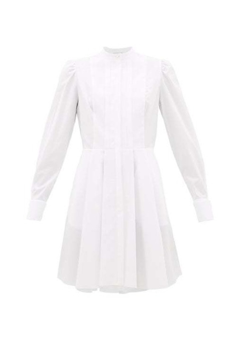 Alexander McQueen Pleated cotton-poplin shirtdress