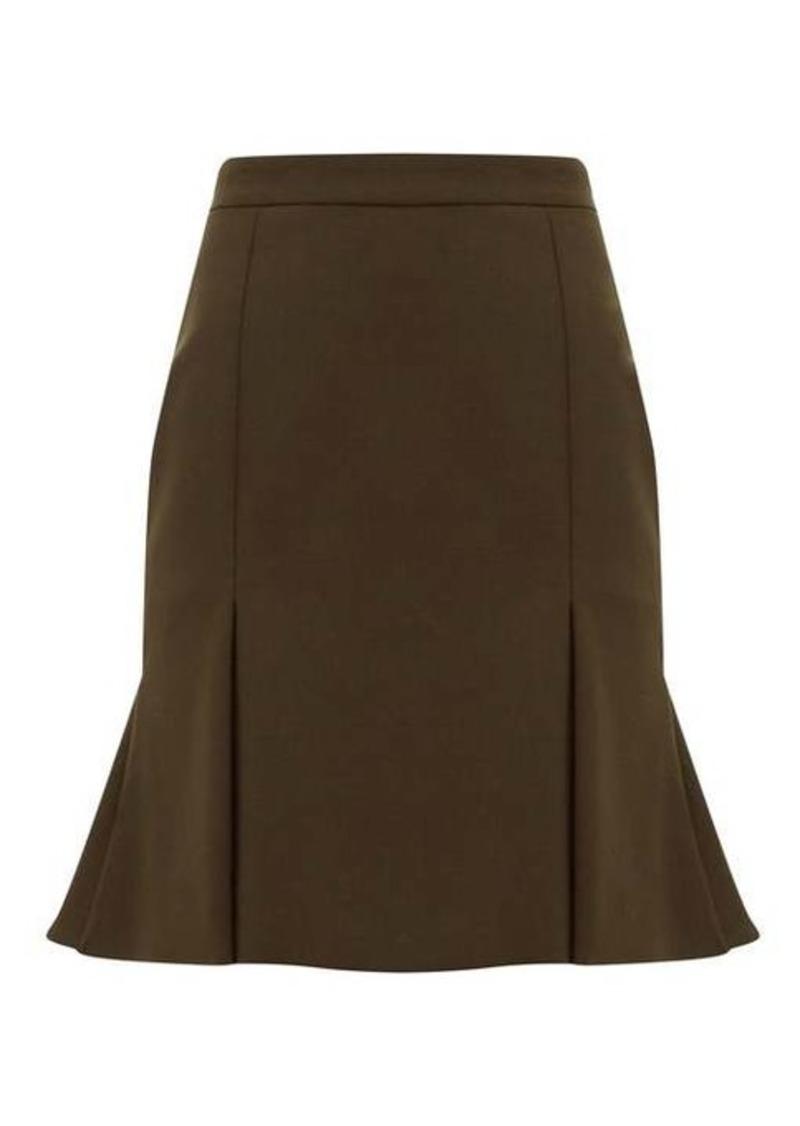 Alexander McQueen Pleated-hem wool-blend mini skirt