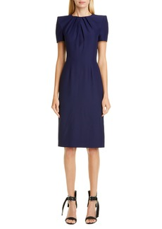 Alexander McQueen Pleated Sheath Dress