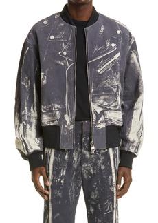 Alexander McQueen Printed Leather Jacket