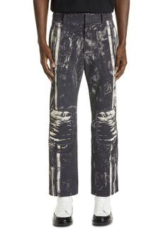 Alexander McQueen Printed Leather Pants