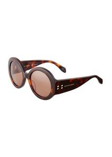 Alexander McQueen Printed Round Sunglasses