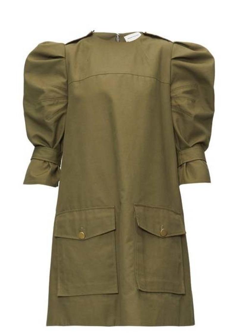 Alexander McQueen Puff-sleeve cotton-canvas cargo dress