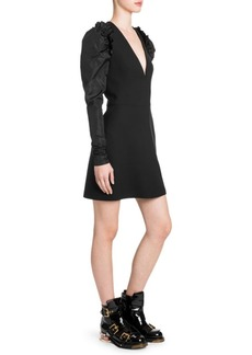 Alexander McQueen Puff-Sleeve Mini Dress