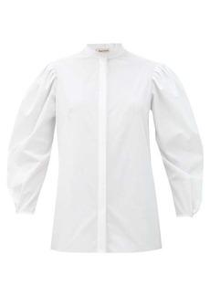 Alexander McQueen Puff-sleeved cotton blouse