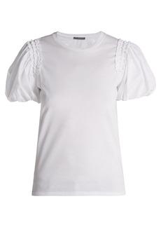 Alexander McQueen Puffed-sleeve cotton T-shirt