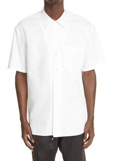 Alexander McQueen Punk Skull Short Sleeve Button-Up Shirt
