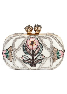Alexander McQueen Queen & King Embroidered Box Clutch