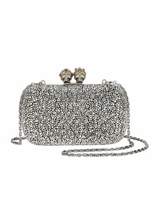 Alexander McQueen Queen & King Skull Box Clutch Bag