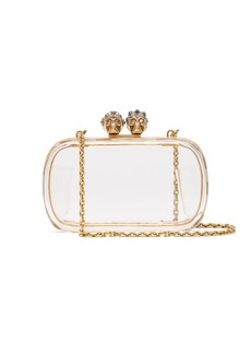 Alexander McQueen Queen and King plexiglass clutch