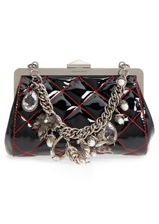 Alexander McQueen Quilted Patent Leather Frame Clutch