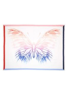 Alexander McQueen Rainbow Moth Cotton & Silk Pareo Scarf