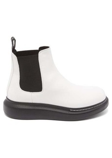 Alexander McQueen Raised-sole leather chelsea boots