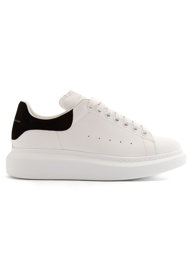 6170db070684 Alexander McQueen Alexander McQueen Raised-sole low-top leather ...