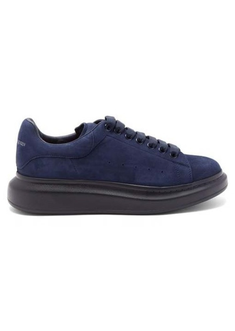 Alexander McQueen Raised-sole suede trainers