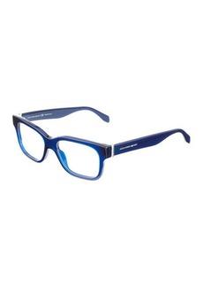 Alexander McQueen Rectangle Acetate Optical Glasses