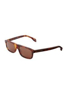 Alexander McQueen Rectangle Plastic Sunglasses