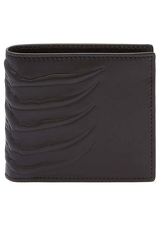 Alexander McQueen Rib Cage Leather Bifold Wallet