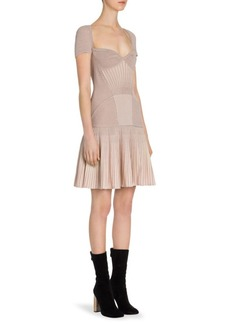 Alexander McQueen Rib-Knit Drop-Waist Dress