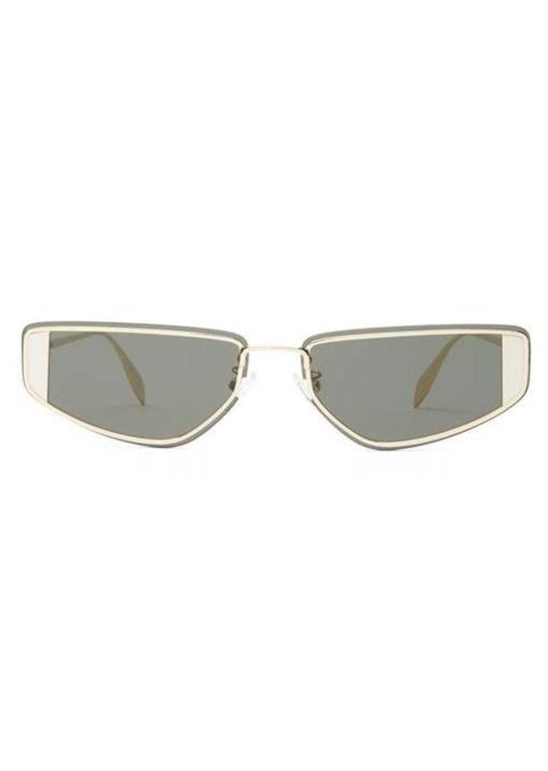 Alexander McQueen Rimless rectangle metal sunglasses