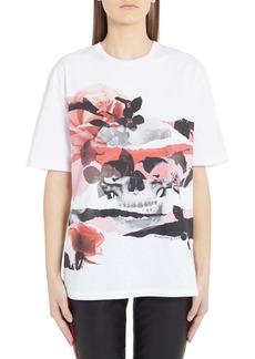 Alexander McQueen Rose Skull Graphic Tee