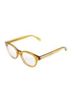 Alexander McQueen Round Acetate Optical Glasses