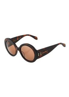 Alexander McQueen Round Havana Sunglasses