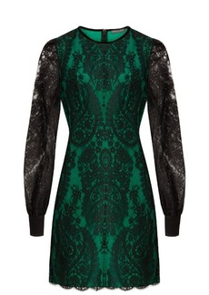 Alexander McQueen Round-neck lace mini dress