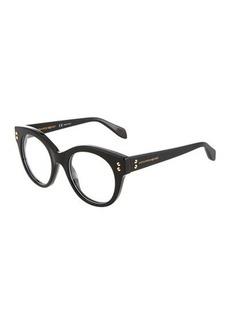 Alexander McQueen Round Plastic Optical Glasses